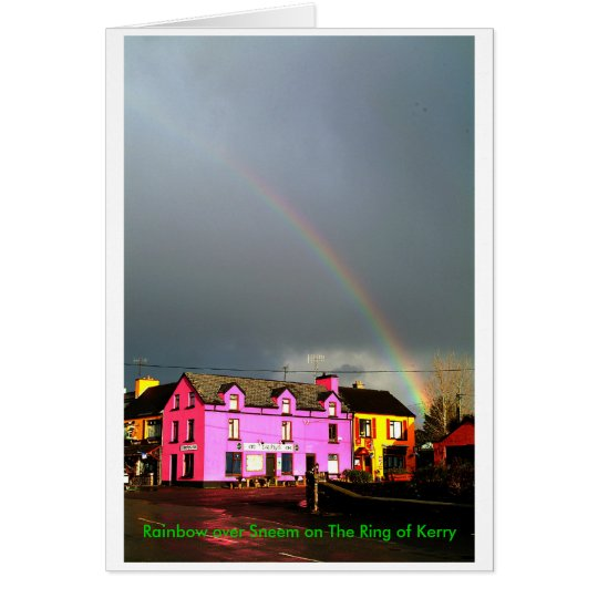 Rainbow over Sneem Card