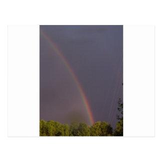 Rainbow Over Stark City Postcard