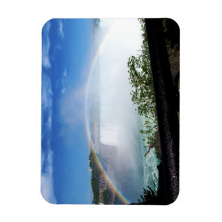 Rainbow over the Falls Rectangular Photo Magnet