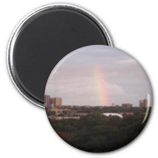 rainbow over The Golfcourse 6 Cm Round Magnet