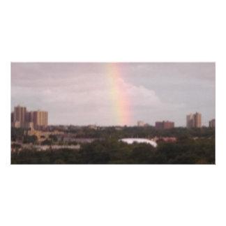 rainbow over The Golfcourse Photo Cards