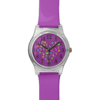 Rainbow owls purple watch