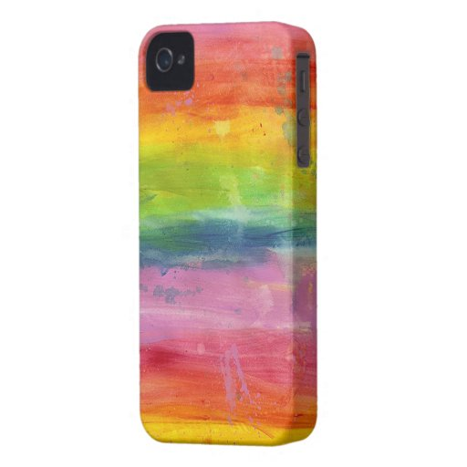 Rainbow paint colorful Blackberry phone case Blackberry Bold Case
