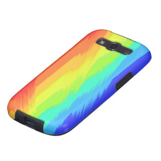 rainbow paint pattern samsung galaxy3 case galaxy SIII covers