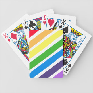 Rainbow Paint Playing Cards