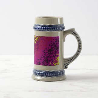 Rainbow Paint Splatter Abstract Purple Pink Green Beer Steins