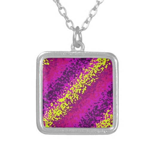 Rainbow Paint Splatter Abstract Purple Pink Green Pendant