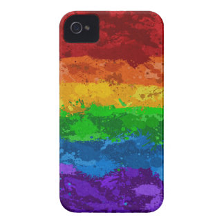 Rainbow Paint Splatter Flag iPhone 4 Case
