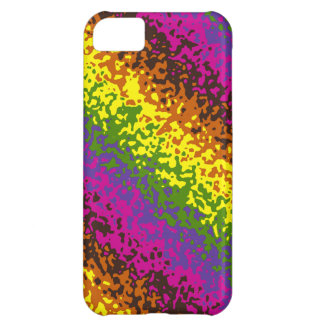 Rainbow Paint Splatter Hippie Earth Tones Abstract iPhone 5C Cases