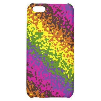 Rainbow Paint Splatter Hippie Earth Tones Abstract iPhone 5C Case