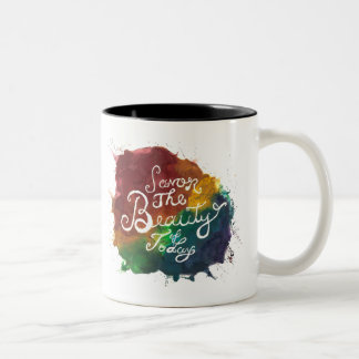 Rainbow Paint Splatter Mug