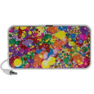 Rainbow Paint Splatter Speakers