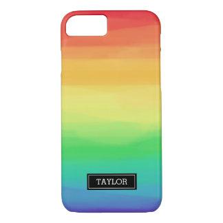Rainbow Paint Strokes | Custom Name iPhone 8/7 Case