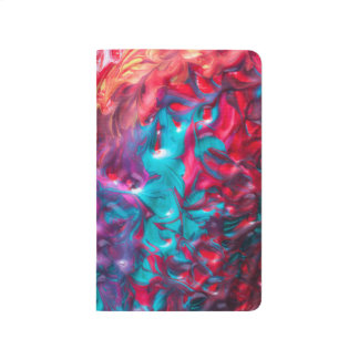 Rainbow Paint Swirls Customizable Journal