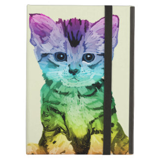 Rainbow Painted Kitten Ipad Cases