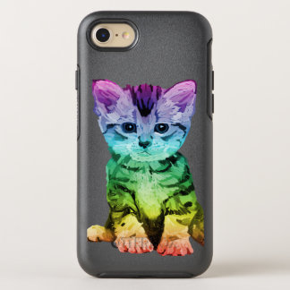 Rainbow Painted Kitten Otterbox OtterBox Symmetry iPhone 8/7 Case
