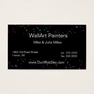 Rainbow Paints Interior Decor Business Card