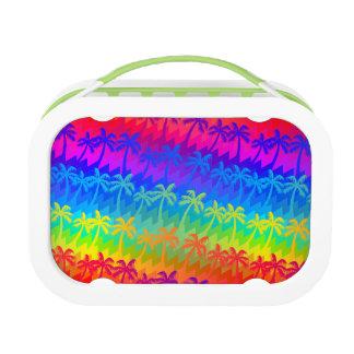 Rainbow palm trees lunch box