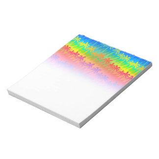 Rainbow palm trees notepad