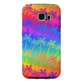 Rainbow palm trees samsung galaxy s6 cases