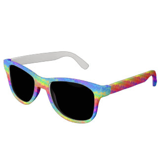 Rainbow palm trees sunglasses