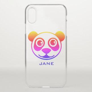 Rainbow Panda Personalized iPhone X Case