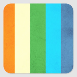 Rainbow Pants Unicorn Square Sticker