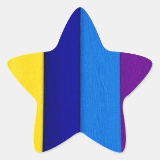 rainbow paper color summer abstract modern art star sticker