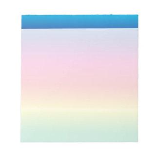 Rainbow Parade Notepad