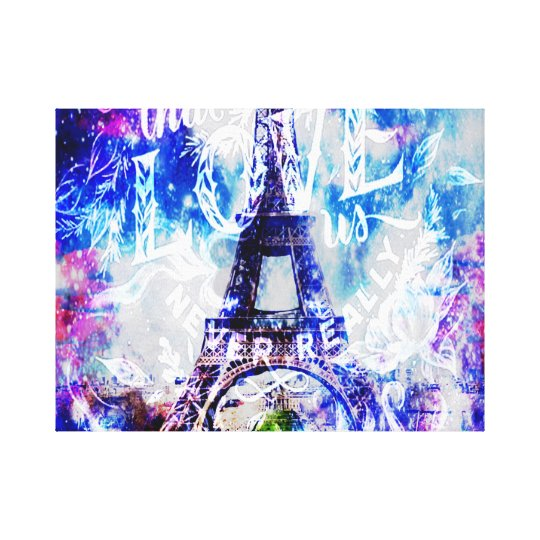 Rainbow Parisian Dreams of the Ones that Love UsTh Canvas Print