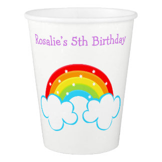 Rainbow Party Birthday Paper Cup