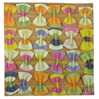 Rainbow pasta pattern napkin