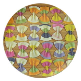 Rainbow pasta pattern plate