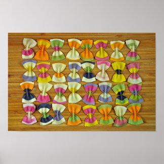Rainbow pasta pattern poster