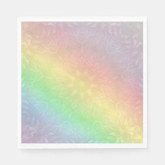 Rainbow Pastel Mandala design Disposable Napkin