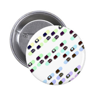 Rainbow Pastel Pills Pattern Pinback Button