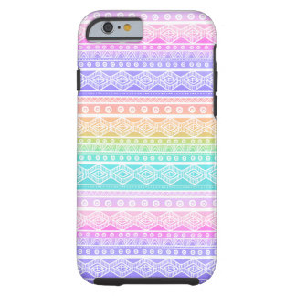 Rainbow Pastels Girly Aztec Tough iPhone 6 Case