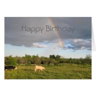 Rainbow Pastures, Happy Birthday Card