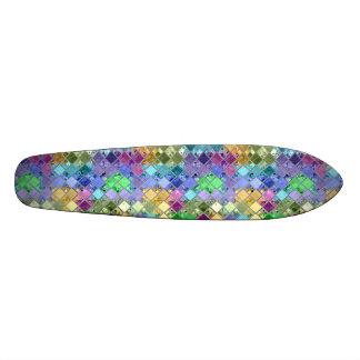 Rainbow Patch Pattern Skate Board