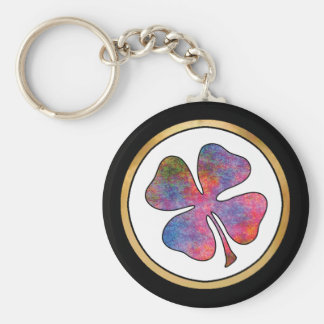 Rainbow Pattern Collection - Basic Round Button Key Ring