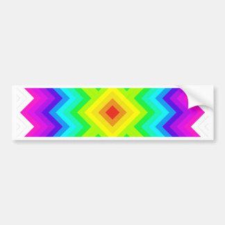 Rainbow Pattern Granny Square Style Bumper Sticker
