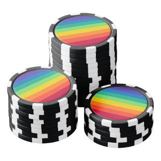 Rainbow pattern poker chips