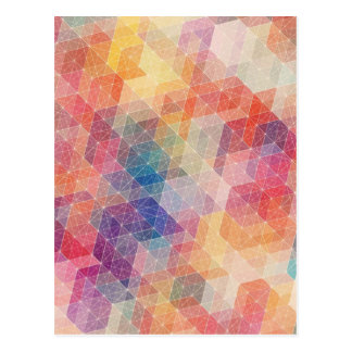 Rainbow Pattern Postcard