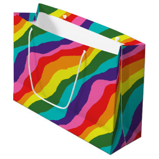 Rainbow Patterns Large Gift Bag