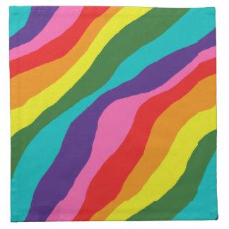 Rainbow Patterns Napkin