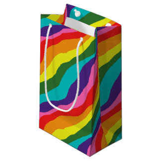 Rainbow Patterns Small Gift Bag