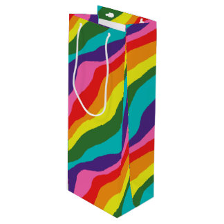 Rainbow Patterns Wine Gift Bag