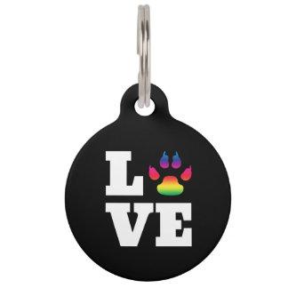 Rainbow paw pet ID tag