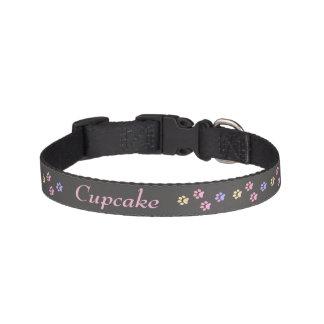 Rainbow Paw Print Dog Collar