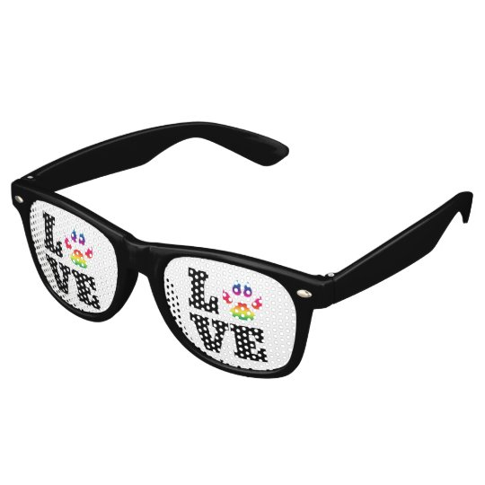 Rainbow paw retro sunglasses